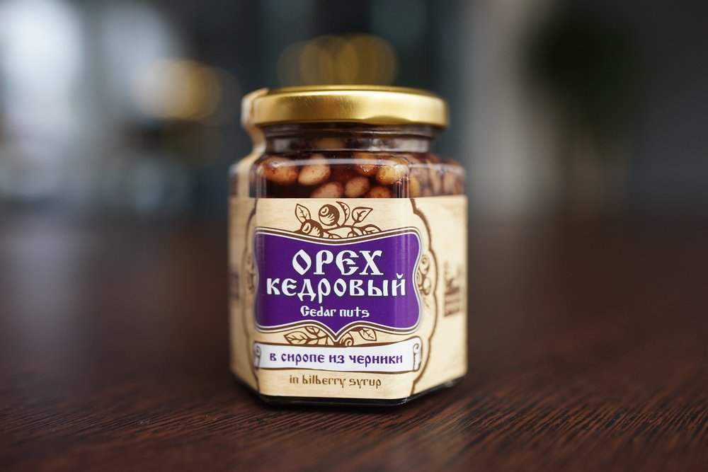 Siberian pine nuts with syrup 220 g